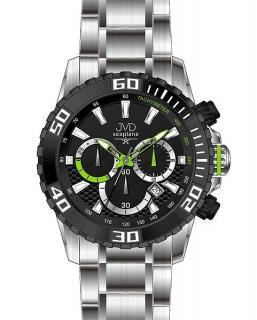 Sportovní vodotěsné ocelové chronografy hodinky JVD Seaplane J1089.1 - 10ATM 80ae79ccbff
