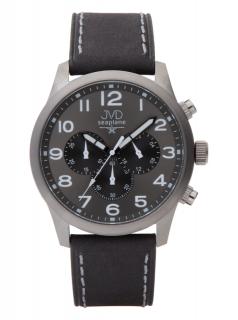 20ec87ea220 Pánský ocelový chronograf vodotěsné hodinky JVD seaplane JC628.1 - 10ATM